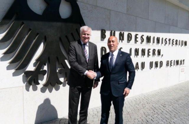 Kryeministri Haradinaj u takua meMinistrin e Punëve të Brendshme të Gjermanisë, Horst Seehofer