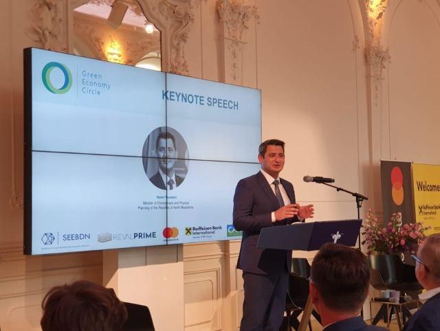 """Ministri Nuredini merr pjesë në konferencën """"Rrethi i gjelbër ekonomik"""" në Vjenë"""