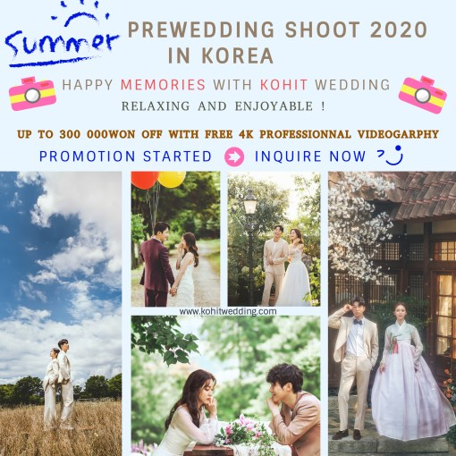 summer 2020 korea prewedding promottion