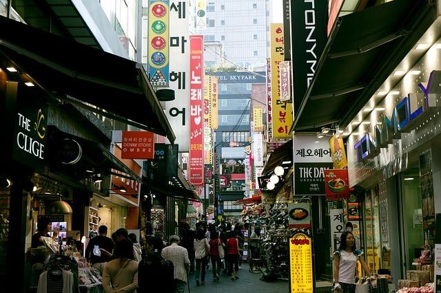 韓国の国際市場