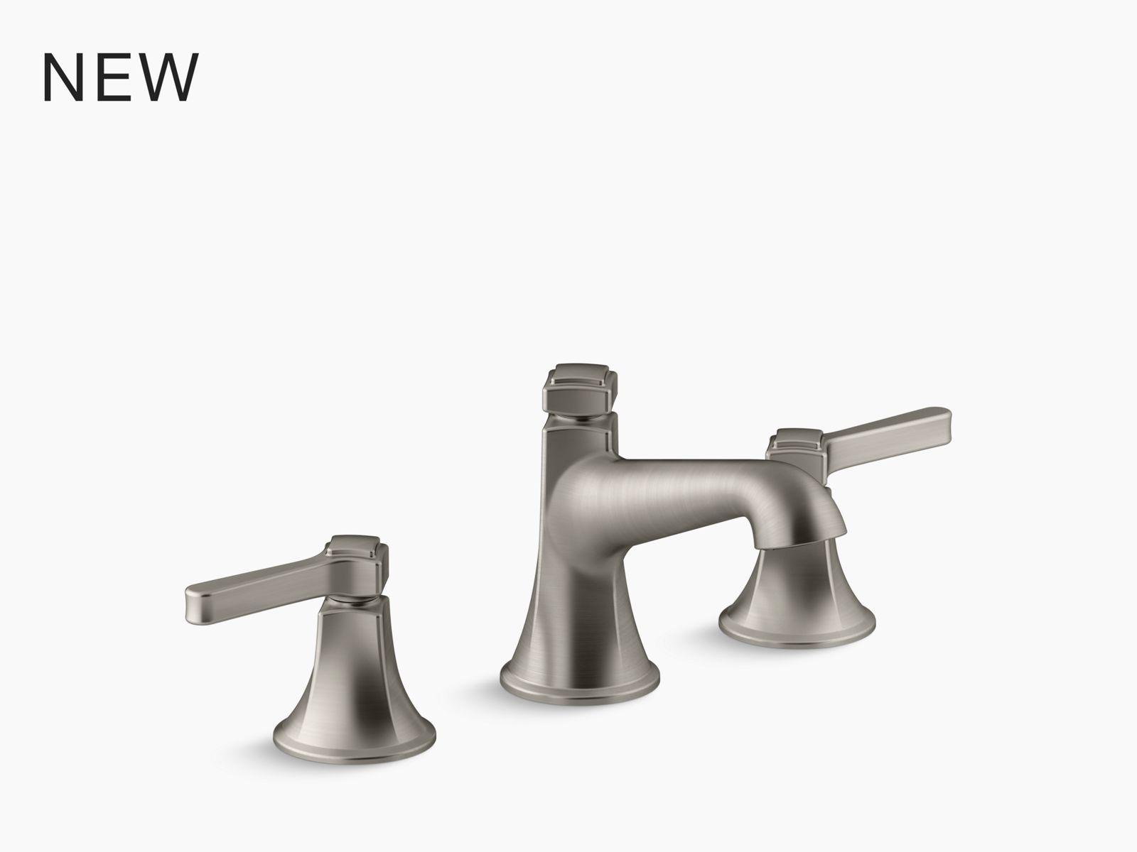 devonshire bath or deck mount bath faucet trim with spout and lever handles