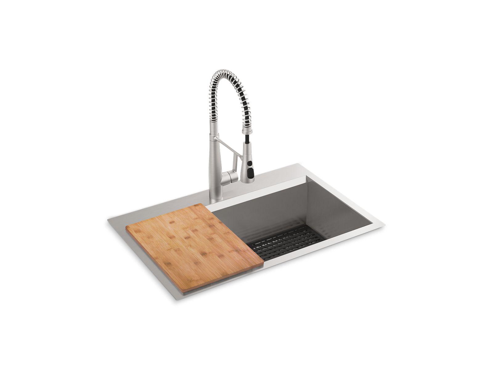 top mount undermount single bowl kitchen sink kit k rc78957 1pc kohler kohler
