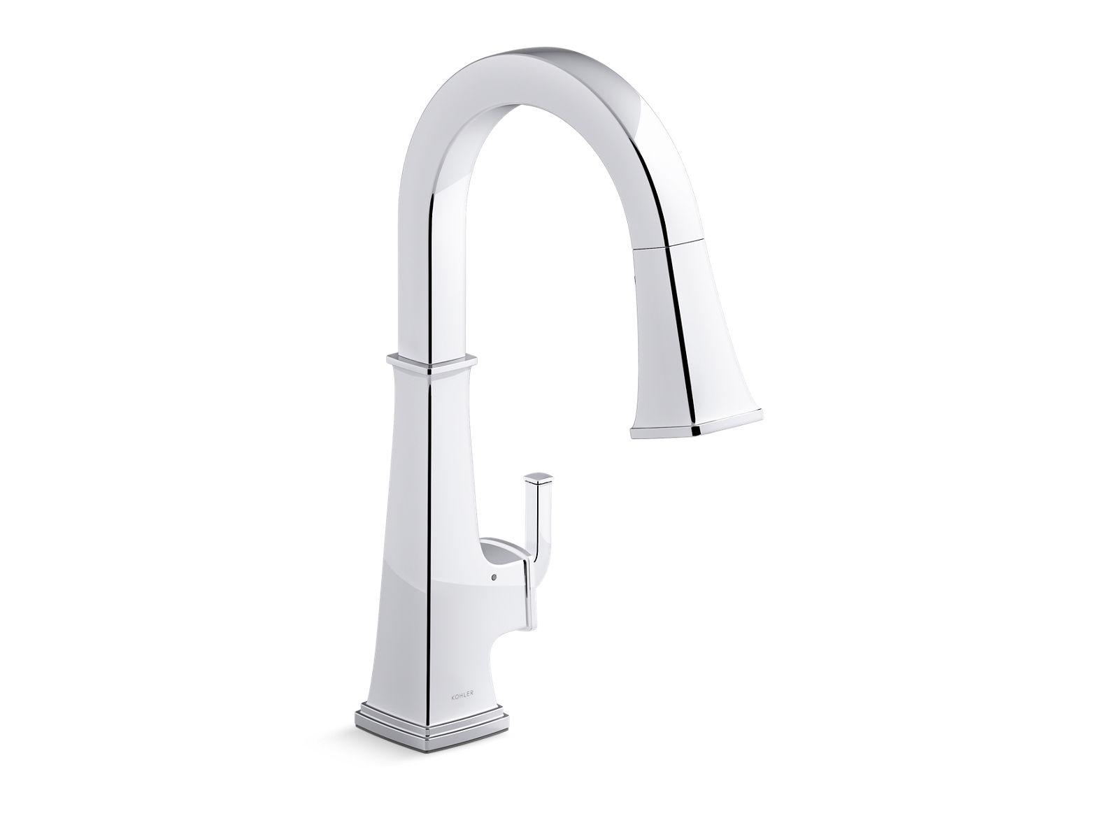 riff touchless pull down kitchen faucet with kohler konnect k 23832 wb kohler kohler