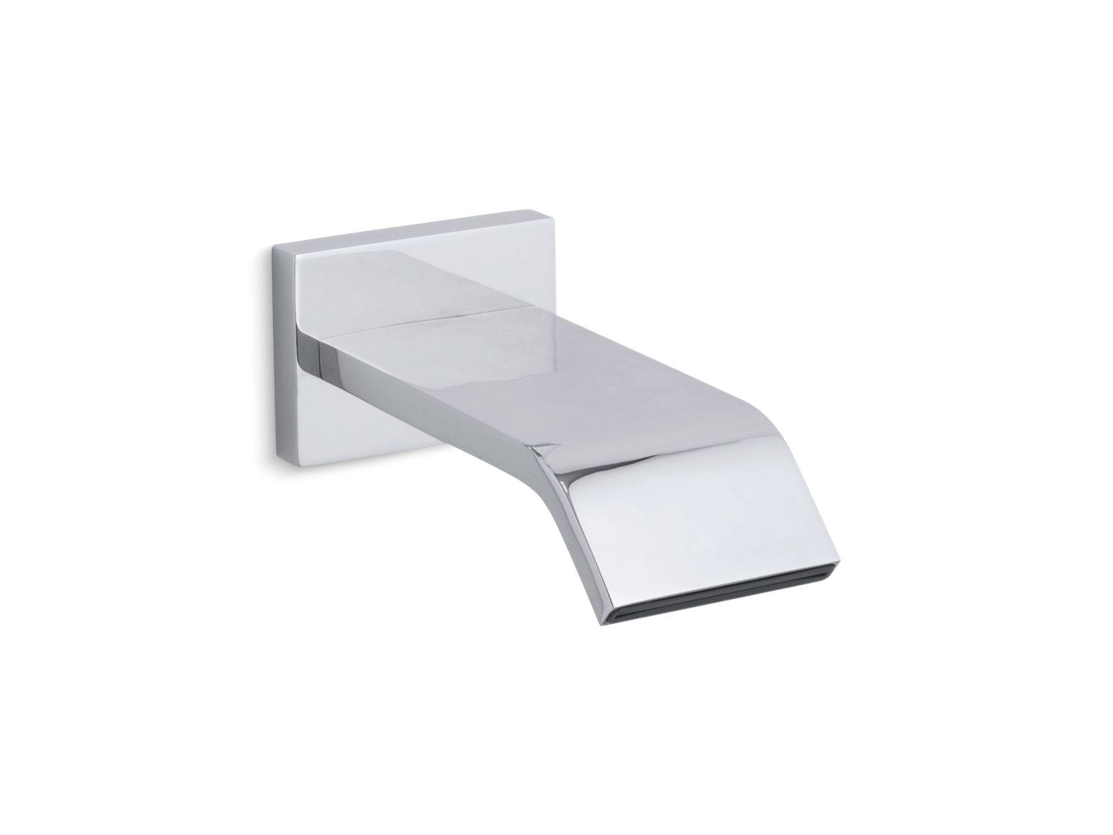 k 14676 loure wall mount 9 3 4 inch non diverter bath spout kohler