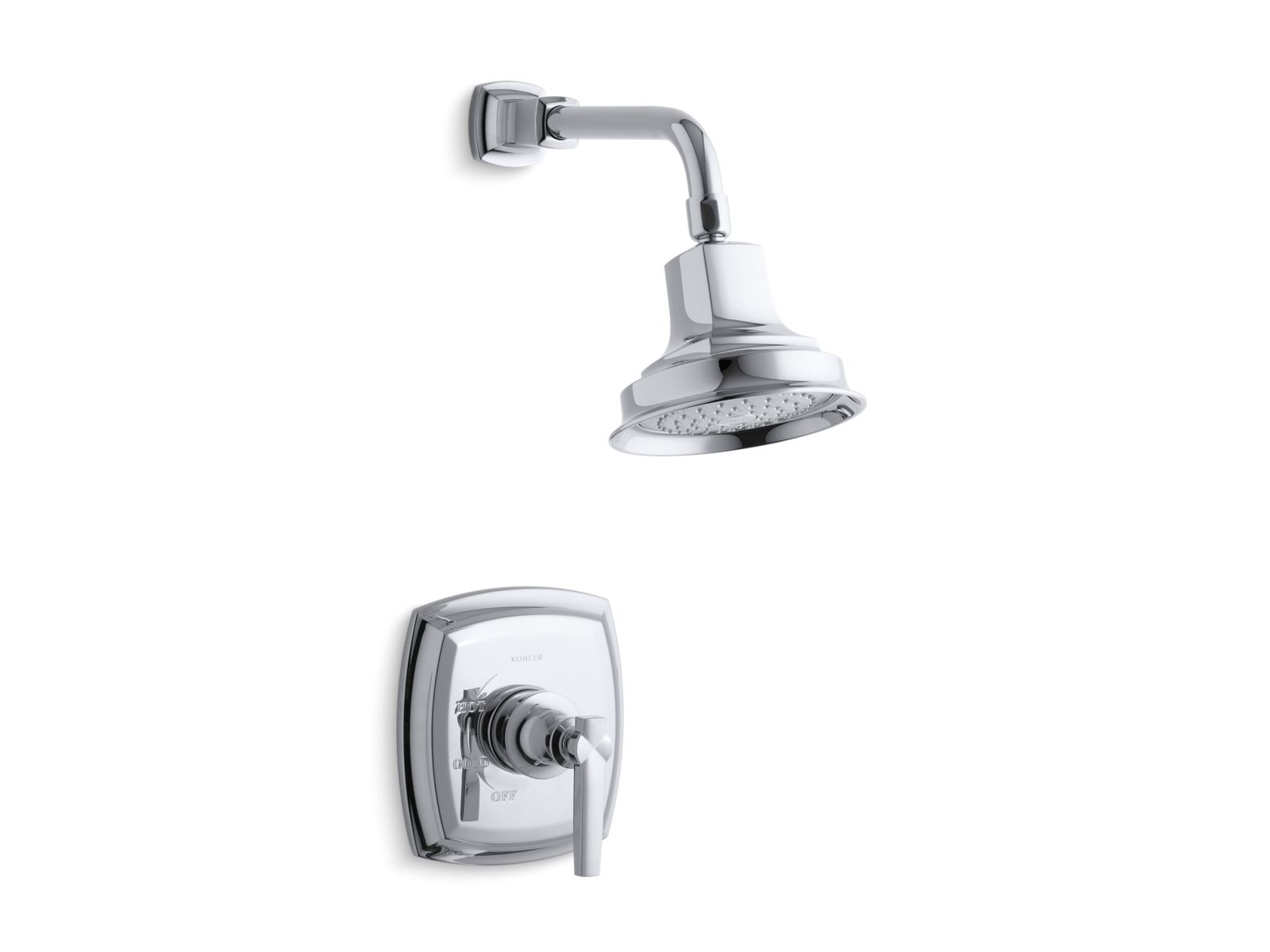 k ts16234 4 margaux rite temp shower valve trim with lever handle and 2 5 gpm showerhead kohler
