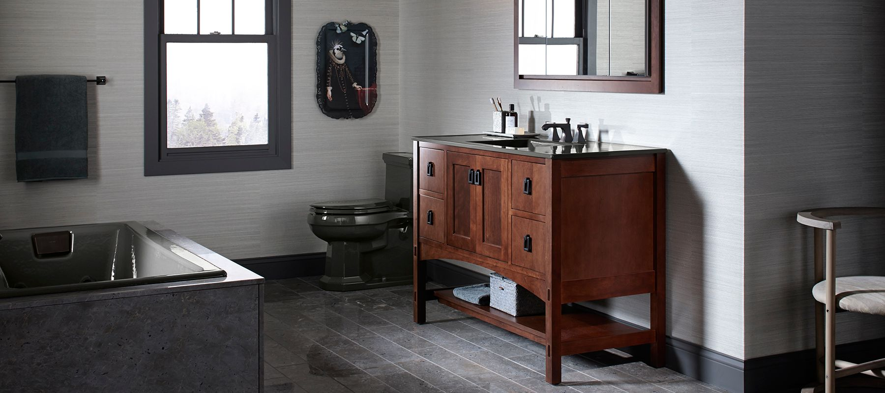 Wall mount Bathroom Vanities  Bathroom   KOHLER Bathroom Storage   Styling Ideas