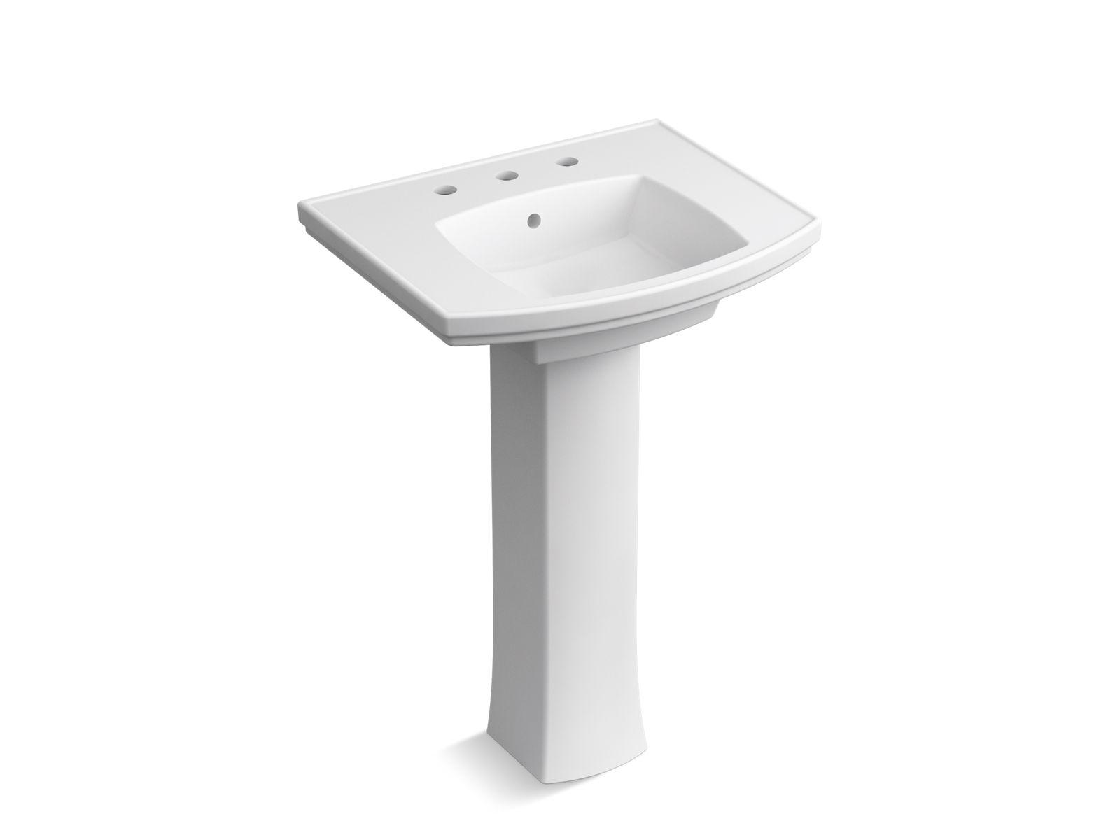k r6376 8 elliston pedestal bathroom sink 8 inch widespread kohler
