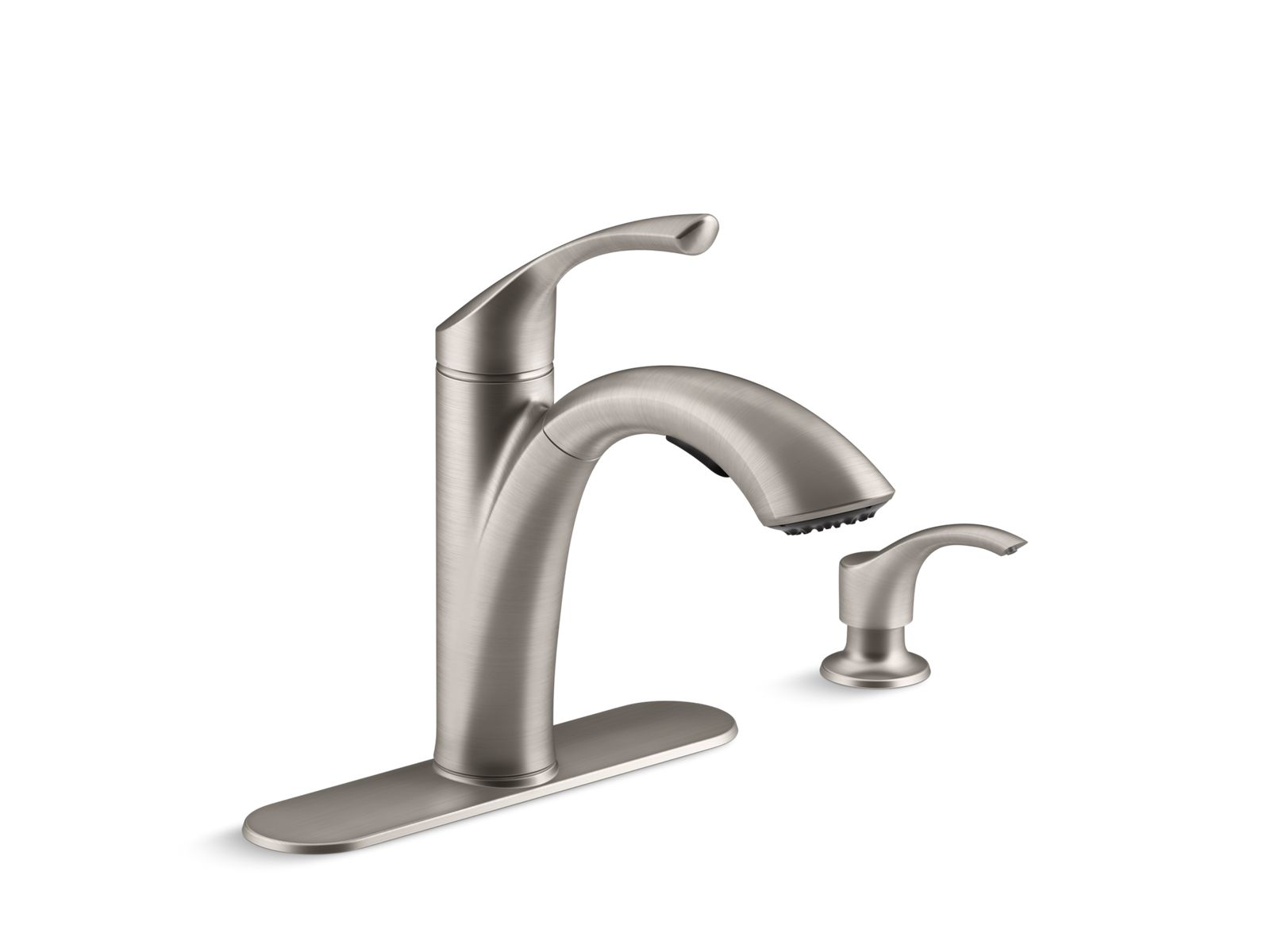 k r72510 sd mistos pull out kitchen faucet with dispenser kohler