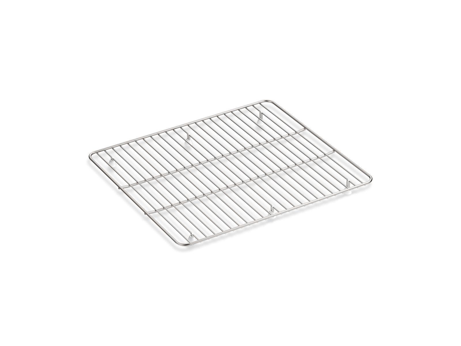k 6109 kennon large stainless steel sink rack 17 3 4 x 15 9 16 kohler