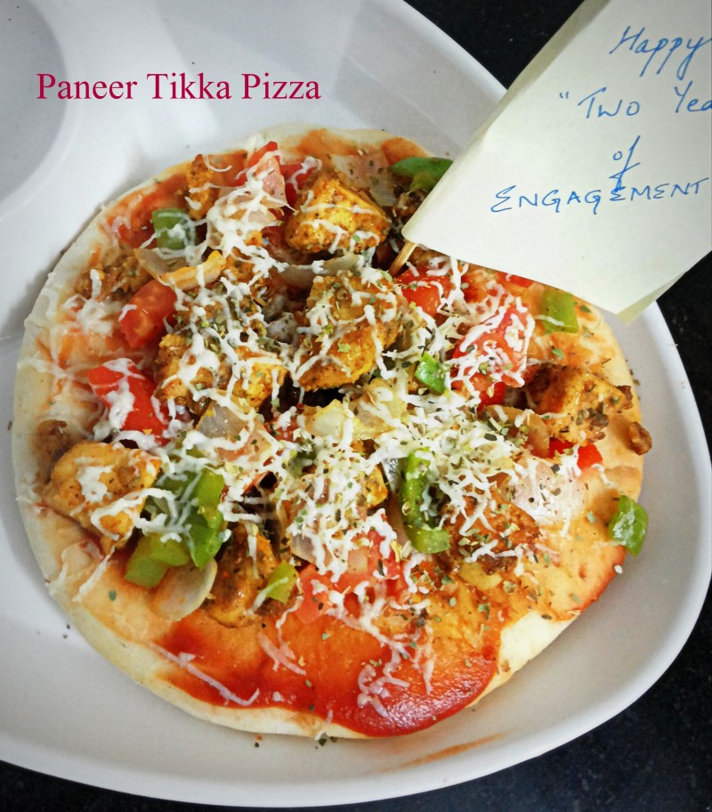#PaneerTikkaPizza follow me @taleoftwotomatoes