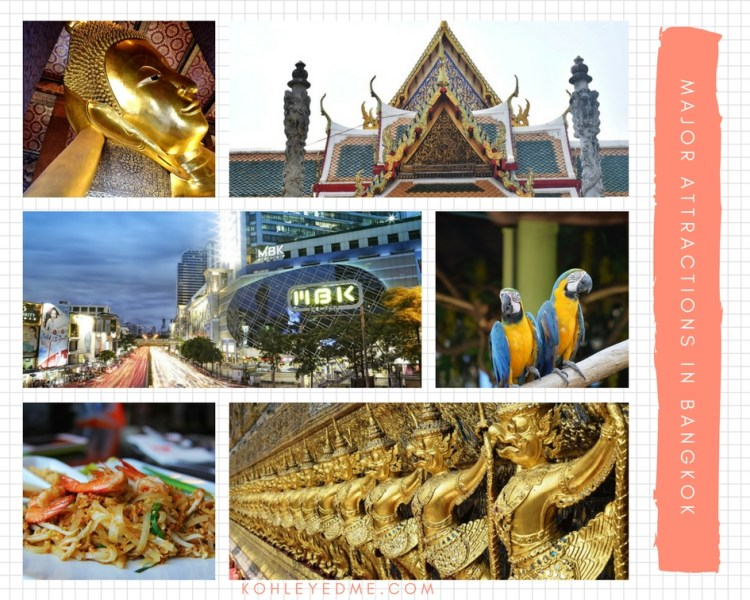 Major Attractions in bangkok