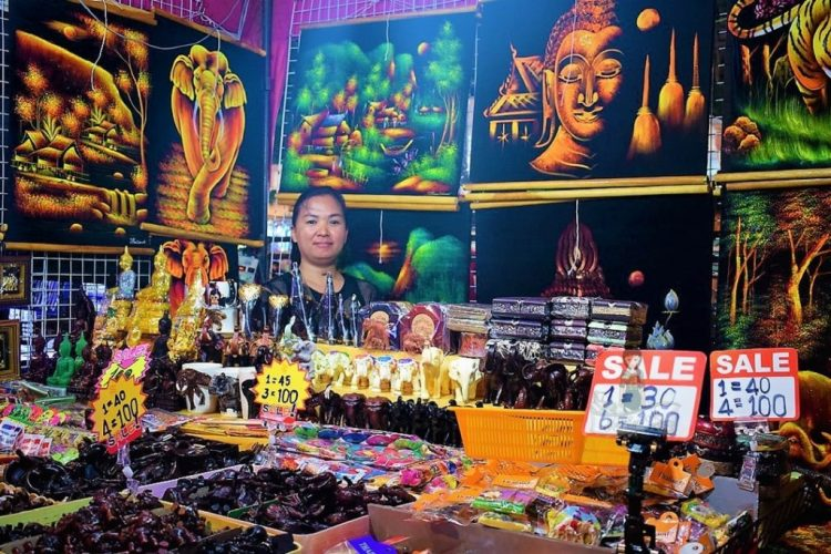 Stalls in Weekend Markets - Souvenirs of Thailand