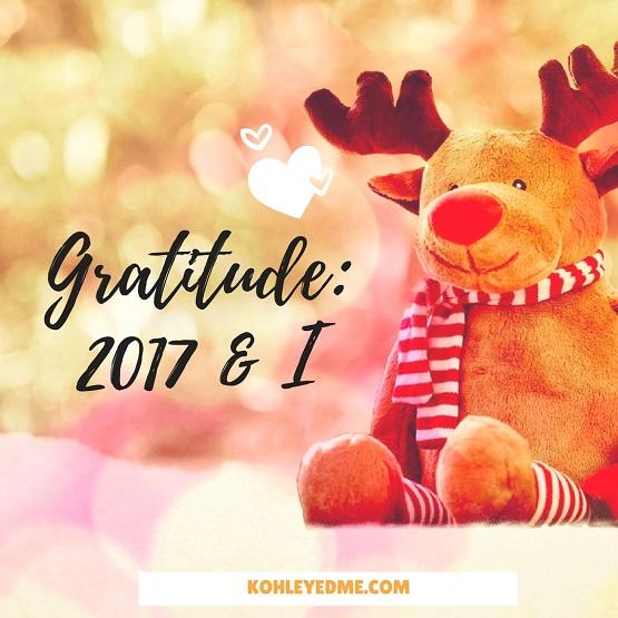 Gratitude 2017 rewind Year at a glance kohleyedme.com
