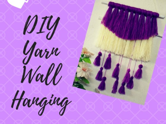 DIY Yarn Wall Hanging kohleyedme.com