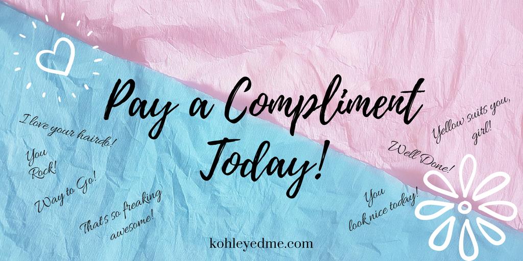 Pay a compliment kohleyedme,com
