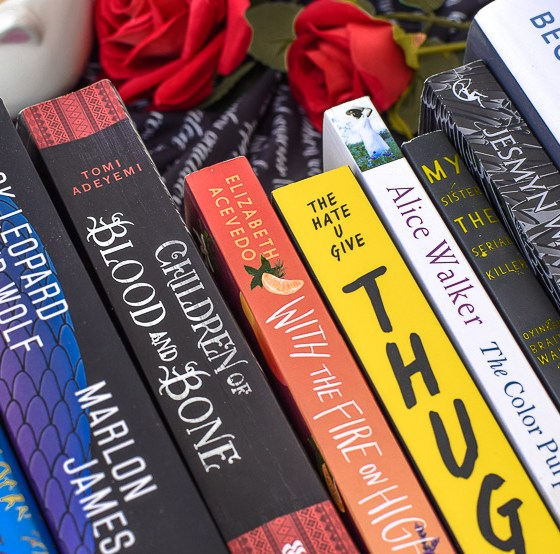 Book stack of Black Authors