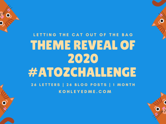 blogging atozchallenge theme reveal 2020