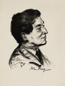 Alban Berg (by Emil Stumpp, 1927)