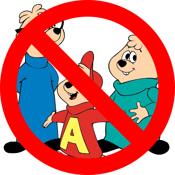 No Chipmunks