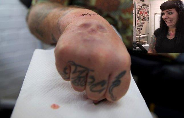 amazing! Wife to please her husband made to fit in the hand, scalp