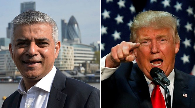 donald trump and sadik khan coldwar