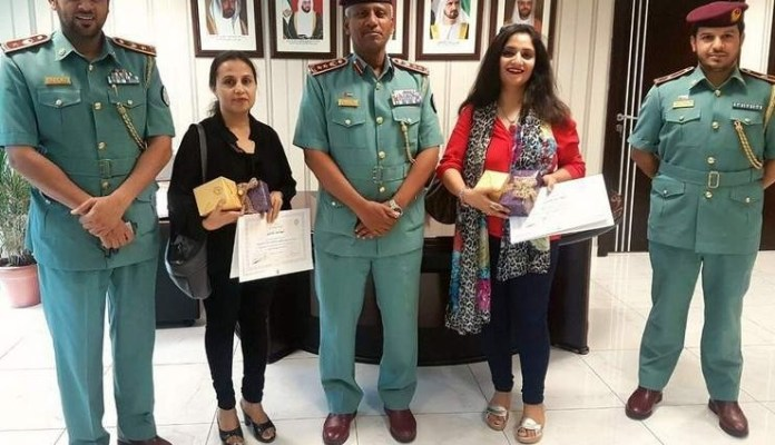 sharjah police honour two indian women for honesty