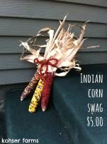 Indian Corn Swag