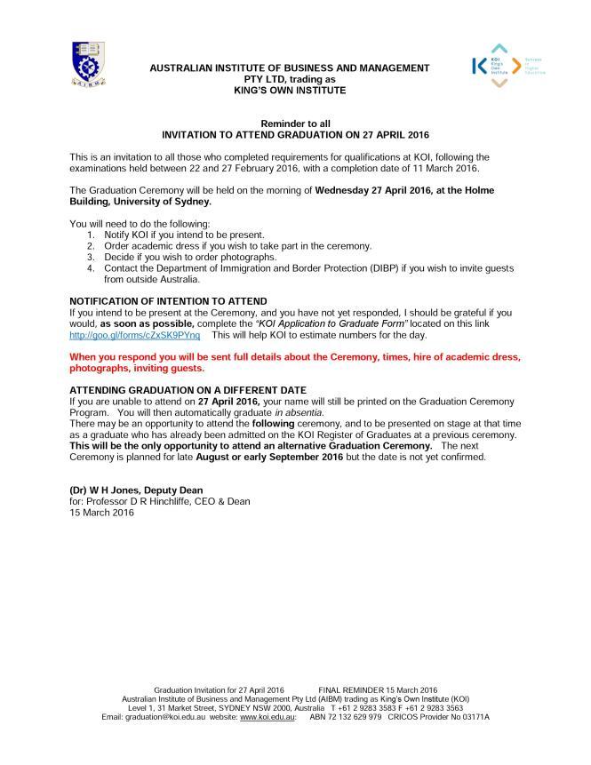 Invitation Letter For Graduation Ceremony Sample Wedding – Letter of Invitation for Graduation