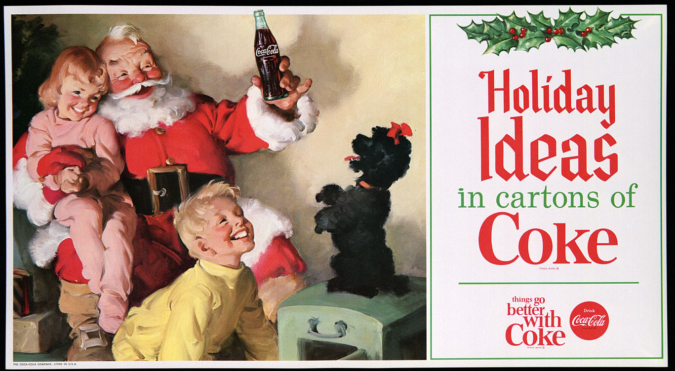 20 Vintage Santa Claus Illustrations By Coca Cola20