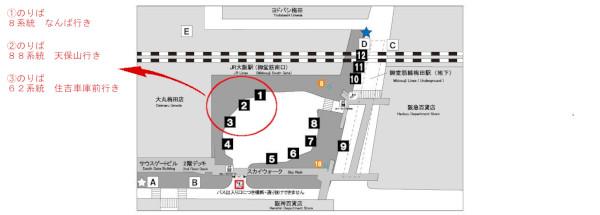 大阪駅前バスのりば