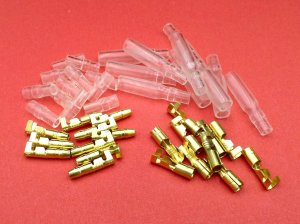 Tinned & Plain Brass 39mm Japanese Motorcycle Bullet Terminals