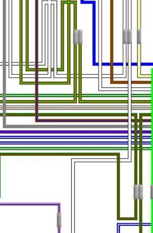Triumph T140 Bonneville Colour Electrical Wiring Diagram