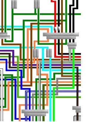 Honda CB750 F2C UK Spec Colour Wiring Loom Diagram