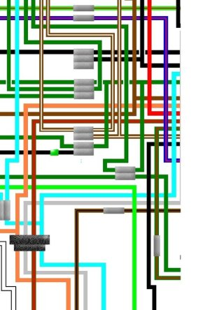 Honda CB750F1 CB750F2 CB750 UK Spec Colour Wiring Loom Diagram