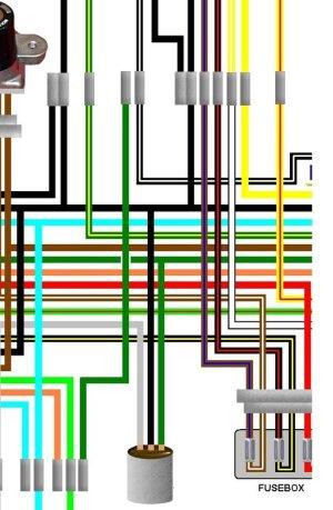 Honda CL360 General Spec Large Colour Wiring Loom Circuit