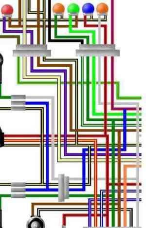 Kawasaki GPZ500S  ER5 Colour Electrical Wiring Diagrams