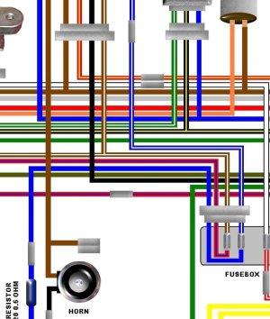 Kawasaki KZ750 B1 USA Spec Colour Electrical Wiring Diagram