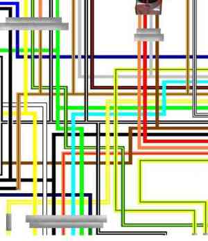 Suzuki GSX600F Large Colour Electrical Wiring Diagrams