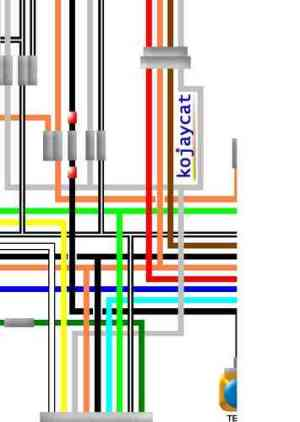 Suzuki GT750 Colour Electrical Wiring Diagrams