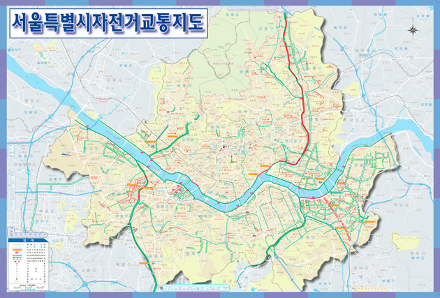 Seoul gives out free bike maps Kojects