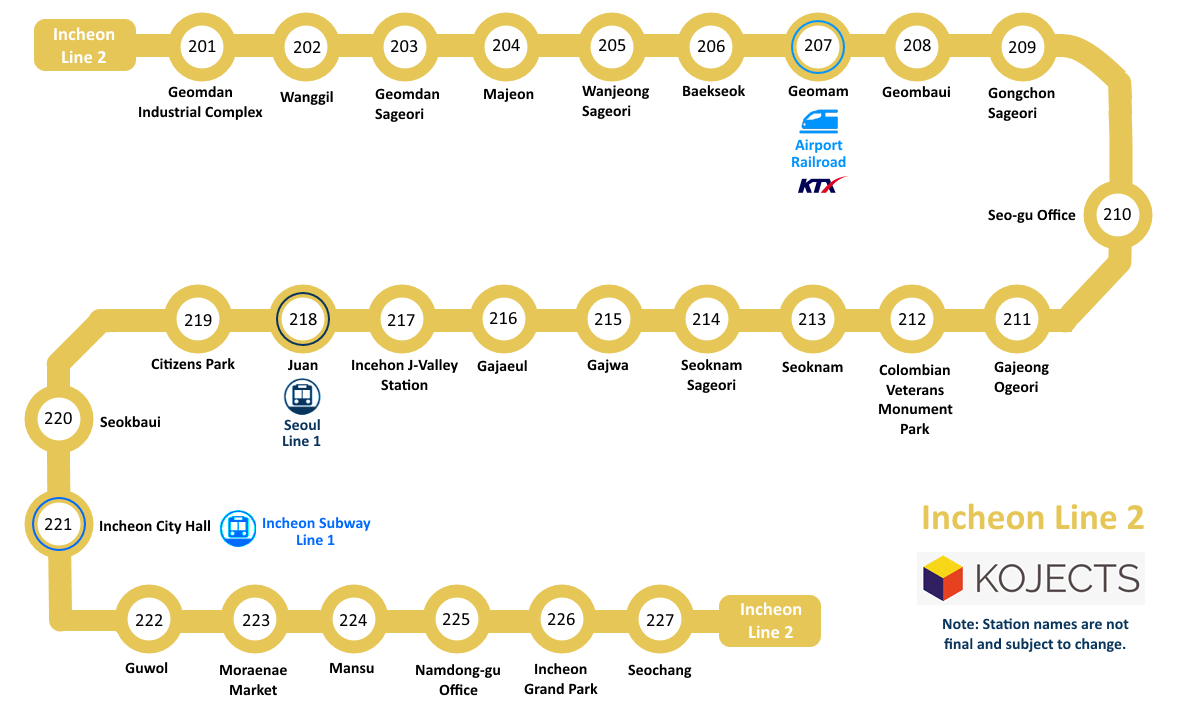 Seoul Subway Map 2015.Incheon Line 2 To Open In 2016 Kojects