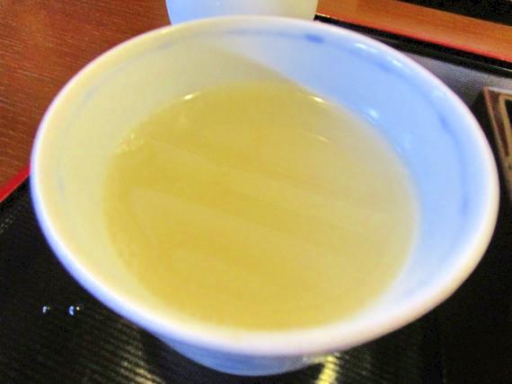 三六庵(みろくあん)、蕎麦湯
