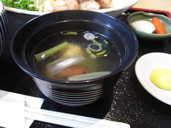 つくば市研究学園,酉の一,からあげ定食,鶏汁,とりスープ