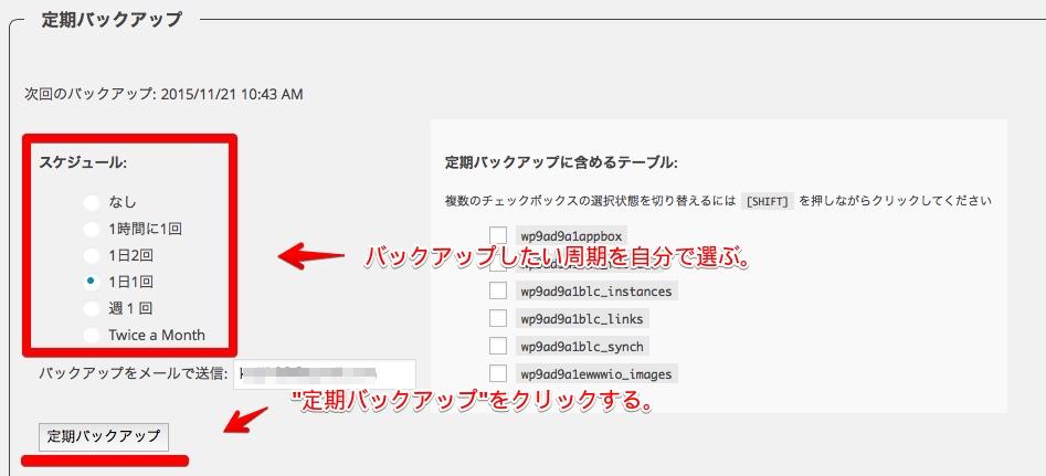 WP-DB-Backup,バックアップ,PC