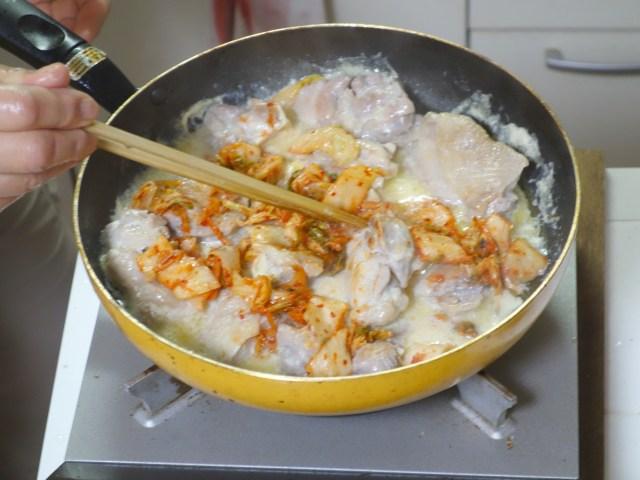 鶏肉,白菜,キムチ