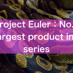 【Project Euler】No : 8 Largest product in a series 解答例【Python】