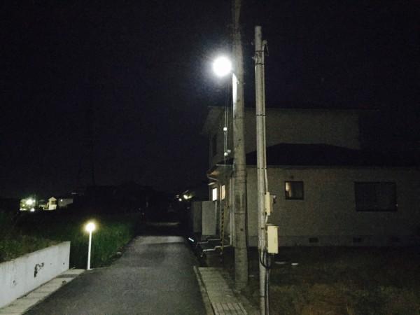 区内街灯新設かなう