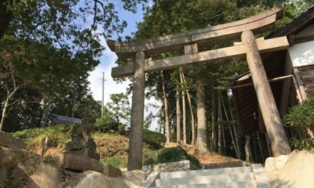 今年改修された山本区の天珂森神社を見に行く