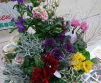 年末のお花講習・水口支部