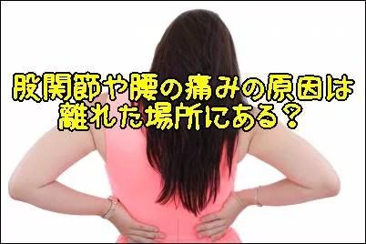 股関節や腰の痛みの原因は離れた場所にある